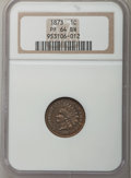 Proof Indian Cents: , 1873 1C Closed 3 PR64 Brown NGC. NGC Census: (25/12). PCGSPopulation (15/8). Mintage: 1,100. Numismedia Wsl. Price for pro...