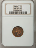 Proof Indian Cents: , 1879 1C PR64 Red NGC. NGC Census: (20/78). PCGS Population (45/77). Mintage: 3,200. Numismedia Wsl. Price for problem free ...