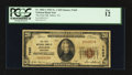 National Bank Notes:Tennessee, Jellico, TN - $20 1929 Ty. 1 The First NB Ch. # 7665. ...