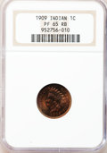 Proof Indian Cents: , 1909 1C PR65 Red and Brown NGC. NGC Census: (98/52). PCGSPopulation (46/17). Mintage: 2,175. Numismedia Wsl. Price forpro...
