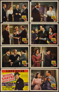 "Michael Shayne, Private Detective (20th Century Fox, 1940). Lobby Card Set of 8 (11"" X 14""). Mystery. ... (Tot..."