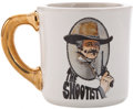 "Movie/TV Memorabilia:Memorabilia, A Coffee Mug from ""The Shootist.""..."