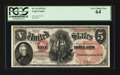 Large Size:Legal Tender Notes, Fr. 69 $5 1878 Legal Tender PCGS Very Choice New 64.. ...