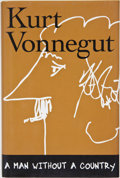 Books:Signed Editions, Kurt Vonnegut, Jr. A Man Without a Country. New York: SevenStories, [2005]. First edition, first printing. Si...