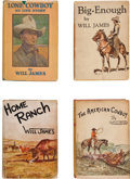 Books:First Editions, Will James. Four Cowboy Books, including: Lone Cowboy, My LifeStory. New York: Charles Scribner's, 1930. [and:] ... (Total: 4Items)