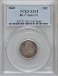 Bust Dimes, 1820 10C Small O, JR-7 XF45 PCGS. JR-7. PCGS Population (1/1). NGCCensus: (0/0). (#38787)...