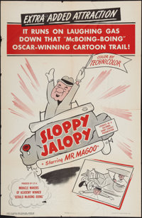 "Sloppy Jalopy (Columbia, 1952). One Sheet (27"" X 41""). Animated"