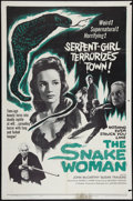 "Movie Posters:Horror, The Snake Woman (United Artists, 1961). One Sheet (27"" X 41""). Horror.. ..."