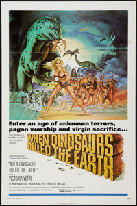 "When Dinosaurs Ruled the Earth (Warner Brothers, 1970). One Sheet (27"" X 41""). Fantasy"