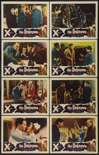 "X... the Unknown (RKO, 1957). Lobby Card Set of 8 (11"" X 14""). Science Fiction. ... (Total: 8 Items)"