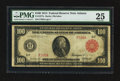 Large Size:Federal Reserve Notes, Fr. 1077a $100 1914 Red Seal Federal Reserve Note PMG Very Fine 25.. ...