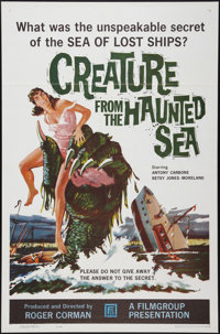 """Creature from the Haunted Sea (Filmgroup, Inc., 1961). One Sheet (27"""" X 41""""). Horror"""