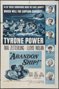 "Movie Posters:Adventure, Abandon Ship! (Columbia, 1957). One Sheet (27"" X 41""). Adventure....."