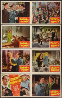 "Enemy of Women (Monogram, 1944). Lobby Card Set of 8 (11"" X 14""). War. ... (Total: 8 Items)"