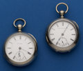 Timepieces:Pocket (post 1900), Rockford & Elgin Key Wind Pocket Watches Runners. ...
