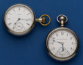 Timepieces:Pocket (post 1900), Hamilton & Aurora Pocket Watches Runners. ... (Total: 2 Items)