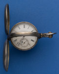 Timepieces:Pocket (post 1900), Lancaster 11 Jewel 18 Size Ruby Grade In A Silver Muckle Convertible Case. ...