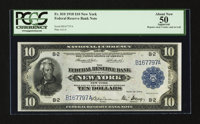 Fr. 810 $10 1918 Federal Reserve Bank Note PCGS Apparent About New 50