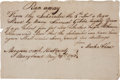 Autographs:Military Figures, Slavery: Manuscript Handbill for a Runaway Slave....