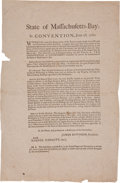 Miscellaneous:Broadside, Massachusetts-Bay Constitutional Convention Broadside....
