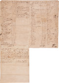 Autographs:Military Figures, Slavery: Estate Listing 150 Slaves...