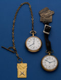 Timepieces:Pocket (post 1900), Two Waltham 21 Jewel 16 Size Pocket Watches. ... (Total: 2 Items)
