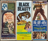 "Strange Lady in Town & Others Lot (Warner Brothers, 1955). Inserts (3) (14"" X 36""). Western. ... (Tota..."