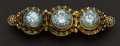 Estate Jewelry:Brooches - Pins, Antique Blue Topaz & Gold Pin. ...
