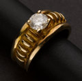 Estate Jewelry:Rings, Unusual Gold & Diamond Ring. ...