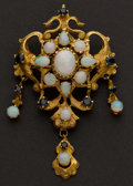 Estate Jewelry:Brooches - Pins, Estate Opal & Gold Pin. ...