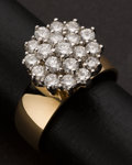 Estate Jewelry:Rings, Vintage Gold & Cluster Diamond Ring. ...