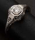 Estate Jewelry:Rings, Early Gold & Diamond Ring. ...