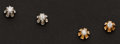 Estate Jewelry:Earrings, Two Pair Diamond Stud Earrings. ... (Total: 2 Items)