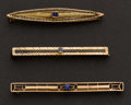 Estate Jewelry:Brooches - Pins, Three Antique Pins. ... (Total: 3 Items)