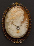 Estate Jewelry:Cameos, Very Fine Gold Habille Cameo. ...