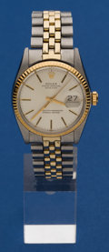 Timepieces:Wristwatch, Rolex Two-Tone Reference 16013 Oyster Perpetual DatejustWristwatch. ...
