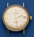 Timepieces:Wristwatch, Omega 14k Gold Seamaster. ...