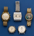 Timepieces:Wristwatch, A Lot Of Five Unusual Vintage Wristwatches. ... (Total: 5 Items)