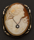 Estate Jewelry:Cameos, Gold Habille Shell Cameo. ...
