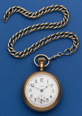 Timepieces:Pocket (post 1900), Illinois 18 Size 21 Jewel Abe Lincoln Pocket Watch. ...