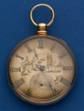 Timepieces:Pocket (pre 1900) , Tobias 14k Gold 50 mm Key Wind Pocket Watch. ...