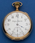 Timepieces:Pocket (post 1900), Rockford 16 Size 15 Jewel Pocket Watch. ...