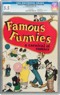 Platinum Age (1897-1937):Miscellaneous, Famous Funnies: A Carnival of Comics #nn (Eastern Color, 1933) CGCFN- 5.5 White pages....