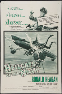 "Hellcats of the Navy (Columbia, 1957). One Sheet (27"" X 41""). War"