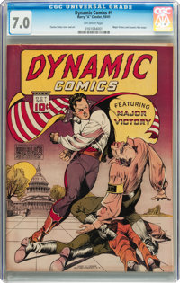 Dynamic Comics #1 (Chesler, 1941) CGC FN/VF 7.0 Off-white pages