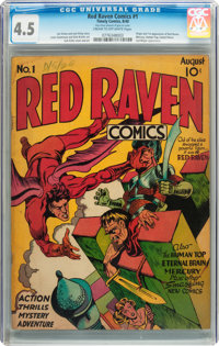 Red Raven Comics #1 (Timely, 1940) CGC VG+ 4.5 Cream to off-white pages