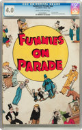 Platinum Age (1897-1937):Miscellaneous, Funnies on Parade #nn (Eastern Color, 1933) CGC VG 4.0 Cream tooff-white pages....