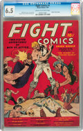 Golden Age (1938-1955):Miscellaneous, Fight Comics #1 (Fiction House, 1940) CGC FN+ 6.5 Cream to off-white pages....