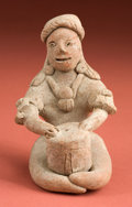 American Indian Art:Pottery, Colima Autlan Type Seated Drummer...