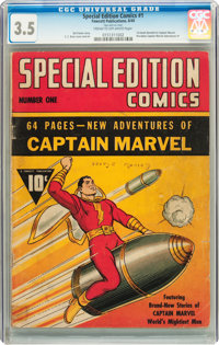 Special Edition Comics #1 (Fawcett, 1940) CGC VG- 3.5 Cream to off-white pages